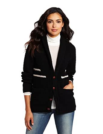 Portland Collection by Pendleton Women's Coos Curry Cardigan, Banded Black, Small