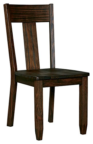 Pine Dining Room Set (Ashley Furniture Signature Design - Trudell Dining Room Chair - 100% Pine Wood -  Set of 2 - Dark Brown)