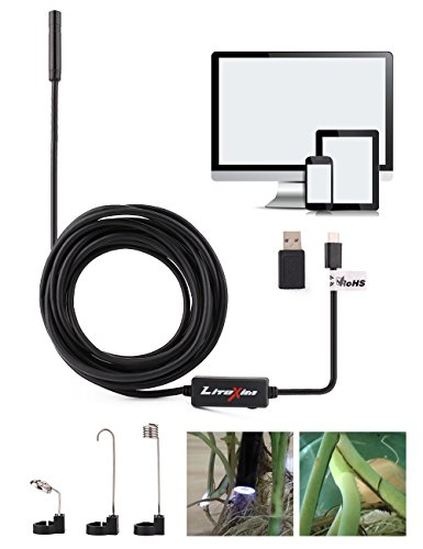 LiteXim Cellphone Inspection camera, 7mm 5M 2MP Endoscope Digital Inspection camera for Android Smartphone with OTG and UVC Function, Compatible with PC