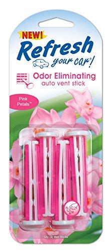 Refresh Your Car! E300909000 Auto Vent Stick, Pink Petals, 4 Per Pack