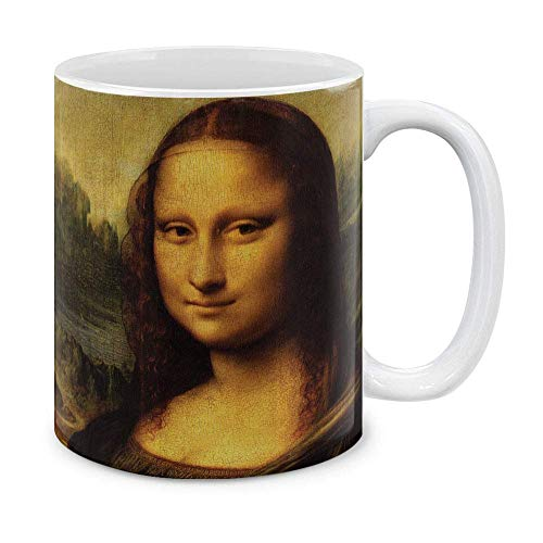 Classic Art Claude Monet Water Lilies Ceramic Coffee Gift Mug Tea Cup, 11 OZ,Mona Lisa Leonardo Da Vinci ()