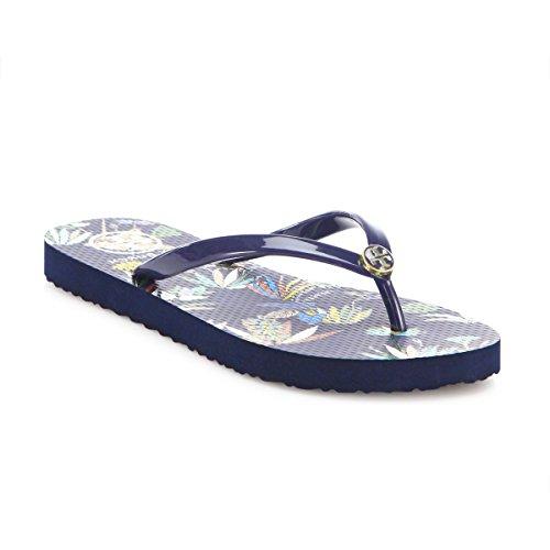 Tory Burch Flip Flops Shoes Sandals Flat Rubber NEW (Envisage) (10) (Tory Burch Sandal 10)