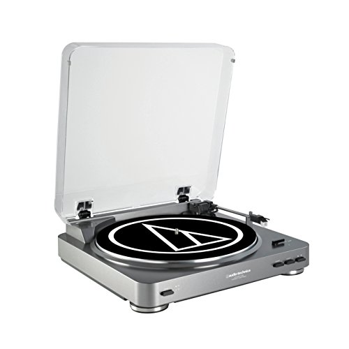 Audio-Technica ATLP60USB LP to USB Digital Belt Drive Turntable - (Silver) (Usb Turntable Record)