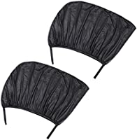 Baoblaze 2Pcs Car Window Cover Sunshade Curtain UV Protection Shield Sun Shade Visor Mesh Solar Mosquito Dust Protection Car Covers
