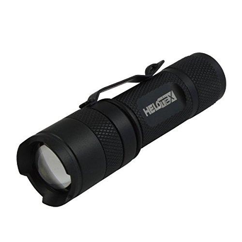 Helotex VG1 CREE LED Adjustable Focus AA Zoom Flashlight