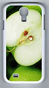 Beautiful Green Apple PC Hard Case Cover For Samsung Galaxy S4 SIV I9500 Case and Cover White