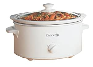 Crock-Pot 3 Qt Oval Slow Cooker, White