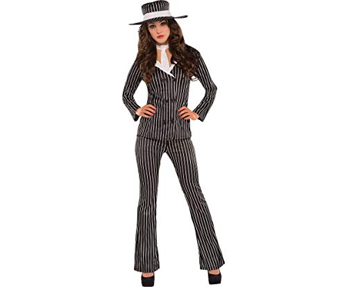 AMSCAN Mob Wife Halloween Costume for Women, Small, with Included Accessories -