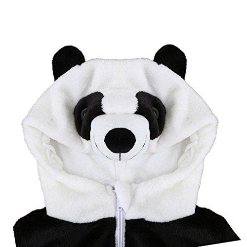 Birdfly Unisex Baby Cute Flannel Romper Zip Up Hoodie Jumpsuit Toddler Animal Costume Winter Cozy Outfits (3T, Panda) ()