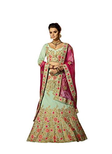 EthnicWear Hot Selling New Indian Wedding Bridal Art Silk Zari Embroidery Stone Work Lehenga Choli Chaniya Choli
