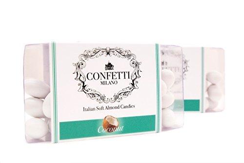 Confetti Milano Italian Soft Almond Candies, Coconut, 5.3 (Milano Italian)