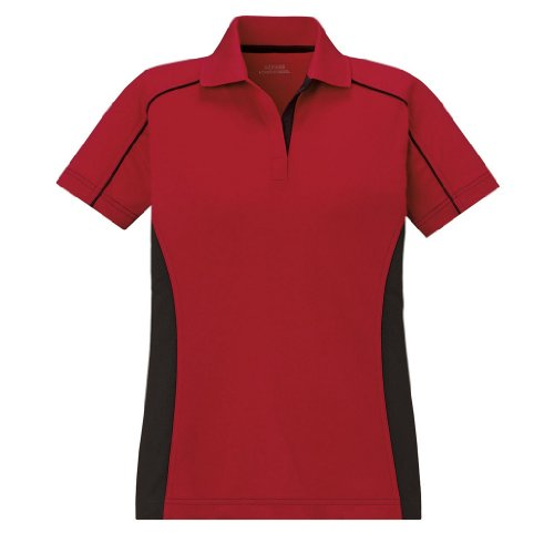 Ash City Ladies Fuse Extreme Performance Polo (Medium, Classic Red/Black) (Shirt Bowling Classic)