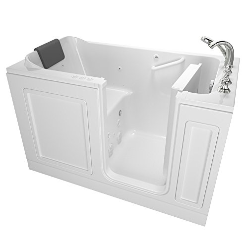 American Standard 3260.219.CRW AS Tubs Acrylic Luxury Series 32 in. x 60 in. Walk-In Bathtub with Air Spa and Whirlpool Massage systems in White ()