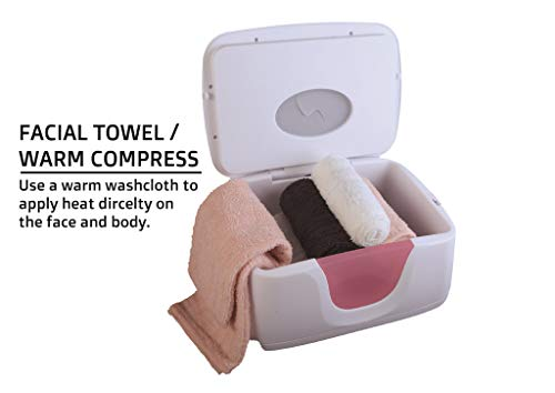 Multi-Use Warmer - Warms Moist Facial Towel, 130° F Max Temp, 45~60 Mins Heat Up Time, Holds 6 to 8 (12 inch x 12 inch) Towels, For Personal/Household Use, Not For Salon Use.