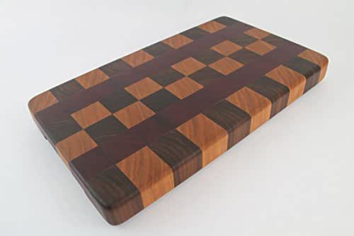 Amazoncom Handcrafted Wood Cutting Board End Grain Walnut