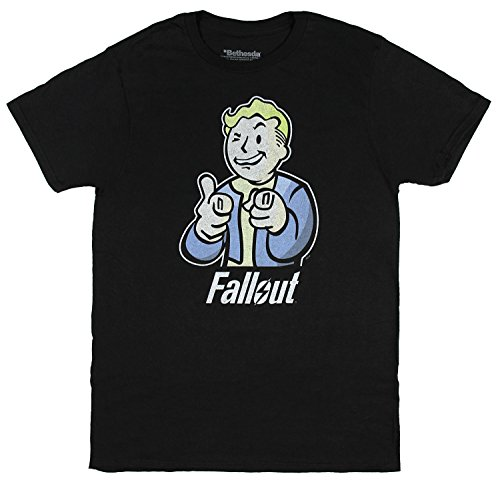 Fallout Character Mens Black T-shirt Licensed
