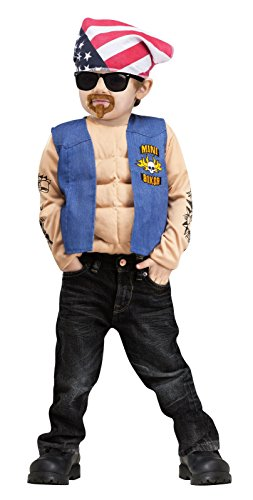 Mini Biker Muscle Toddler Costume (Large)