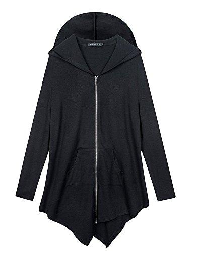 Womens-Pluse-Size-Hooded-Sweatshirt-Jacket-Cape-Style