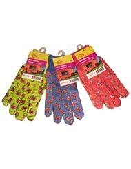 G & F 1823-3 JustForKids Soft Jersey Kids Garden Gloves, Kids...