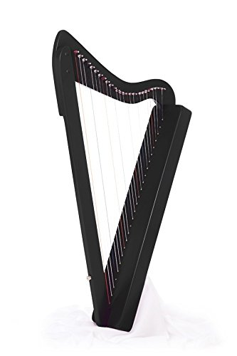 26-String, 33'' LAP Harp HARPSICLE Rees Harps Made in USA, Black by REESE Harps
