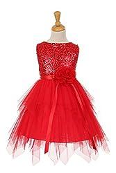 JM Dreamline Sequin Bodice Flower Girl Dress with Double Layered Mesh Skirt (Royal Blue, 4, Little Girl)