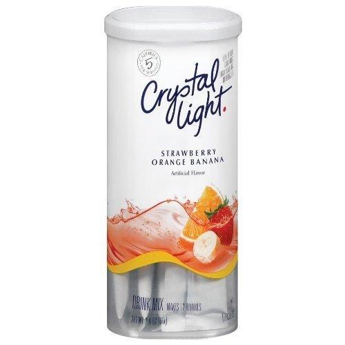 Crystal Light Strawberry Orange Banana 2.4 Ounces (2 Pack) (Crystal Light Strawberry Banana)