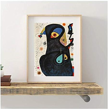 WSTDSM Joan Miroes Vladimires Arte De Pared Lienzo Póster Lienzo Pintura Cuadro Decorativo Sala De Estar Decoración del Hogar 24X36 En Sin Marco