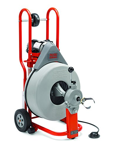 (RIDGID 42007 K-750 Drum Machine with C-100 3/4 Inch x 100 Foot Inner Core Cable and AUTOFEED Control, Drain Cleaner Machine and Drain Cleaning Snake with Drain Auger)