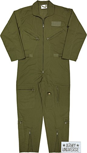 (Army Universe Air Force Flight Suits, US Military Type Coveralls, Uniform Overalls/Jumpsuits Pin (Olive Drab,)