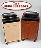 The Drug Shredder - Pill Shredder - Safe, efficient method to Destroy Medication and Drugs - Maple