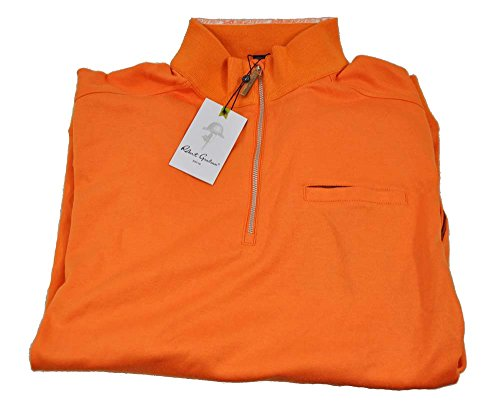 robert-graham-mens-vamoose-medium-mango-quarter-zip-pullover-sweater