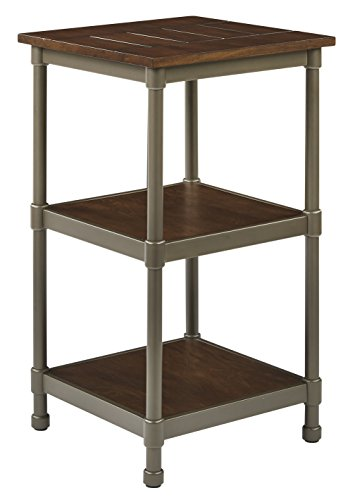 AVE SIX Sullivan Rustic 3 Shelf Curio, Walnut and Pewter Finish by Ave Six (Image #1)