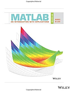 Matlab: an introduction with applications: amos gilat.