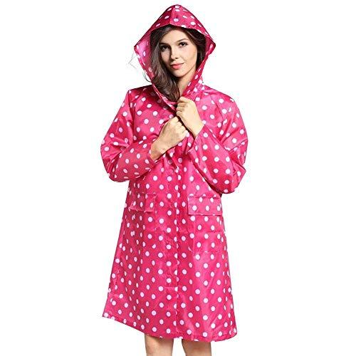 L'air Capuchon Longues Pluie Avec Pointes À Très Fonctionnelle Manteau Jeune Perméable Capuche Rose Femmes Veste Chic Imperméable De qOBSaR