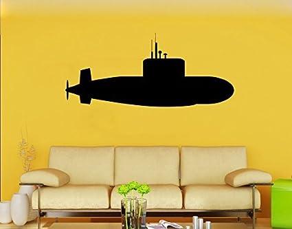 Amazon.com: Submarine Vinyl Sticker Marine Wall Decal Nursery Wall ...
