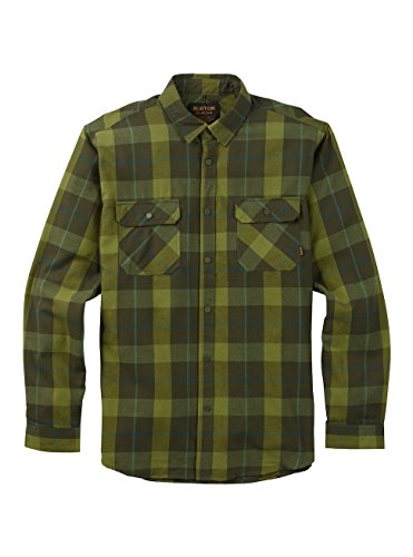 Burton Tech Flannel - Burton Men's Brighton Tech Flannel Top, Forest Night Boxelder, XX-Large