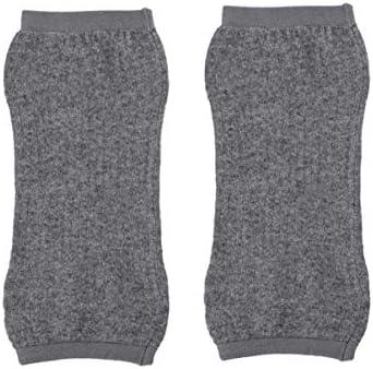 Healifty Knie Kompression Hülse Knie Unterstützung Klammer Komfortable Weiche Kniescheibe Winter Warme Knie für Frauen Elders 1 para (Grau)
