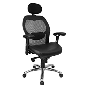 Amazoncom Flash Furniture High Back Black Super Mesh Executive - Buy flash furniture kids car chair hr 10 red gg at beyond stores