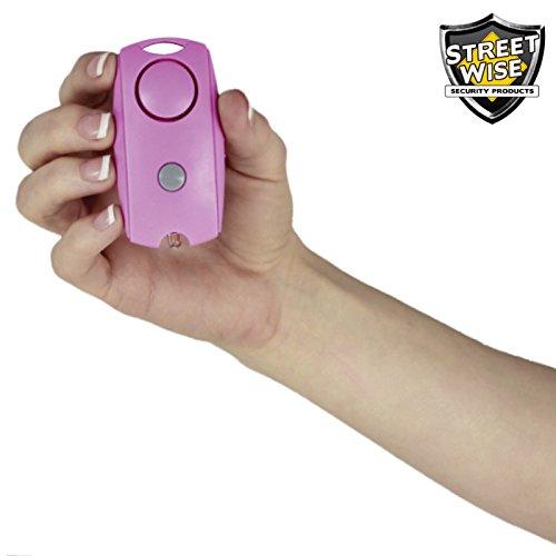 Streetwise Personal Keychain 120-decibel Squeeze Panic Alarm LED Light - Pink
