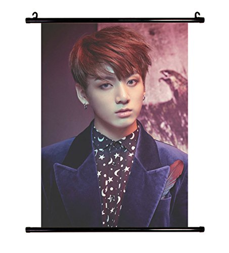 Fanstown Kpop BTS Bangtan Boys Wings wall scroll cloth poster with lomo card 001