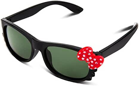 RIVBOS RBK002 Rubber Flexible Kids Polarized Sunglasses for Baby and Children Age 3-10 (Mirrored Lens Available)