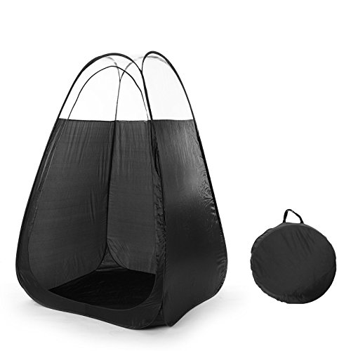 Black Pop Up Spray Tanning Tent Airbrush Sunless Tan Booth Carry Bag Portable (Spray Tan Pop Up Tent For Sale)