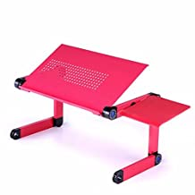 Boddenly Vented Laptop Desk Stand Portable Foldable Adjustable Home Office Supplies MDF Lap Desk Bed Breakfast Table (red)Mother's Day Gift