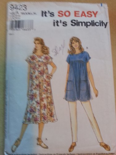- Simplicity 9423 Misses Tunic or Dress Size A (XS,S,M,L,XL)