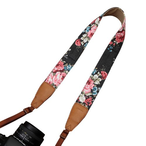 Amazon.com : Print Denim/Leather Camera Shoulder Neck Strap for ...