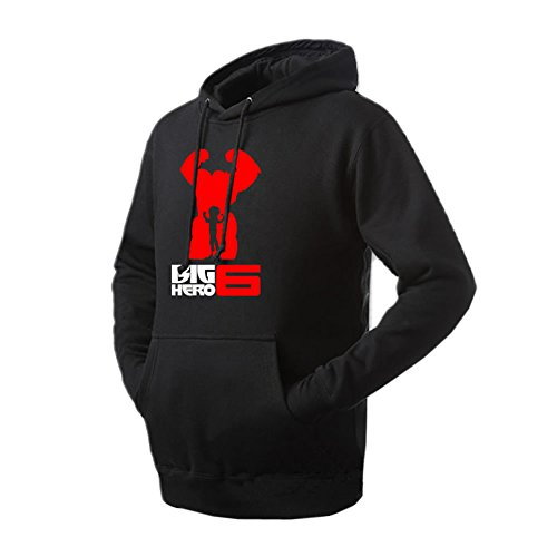 XCOSER Unisex BH6 Cosplay Hoodie Fleece Sweatshirt Pullover Black XXL