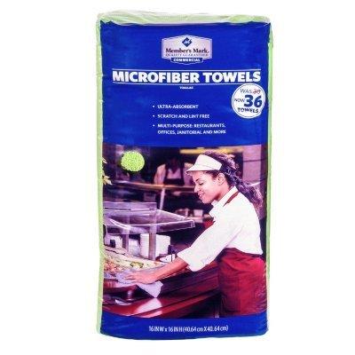 Member's Mark Microfiber Towels, Various Colors (36ct.) (pack of 6) by Member's Mark