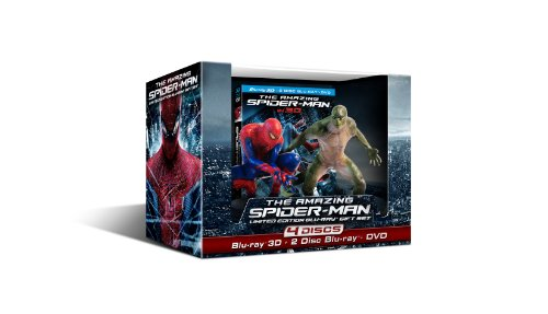 Blu-ray 3D : The Amazing Spider-man With Amazing Spider-Man and The Lizard Figurine (With Blu-Ray, With DVD, Ultraviolet Digital Copy, Boxed Set, Dubbed)