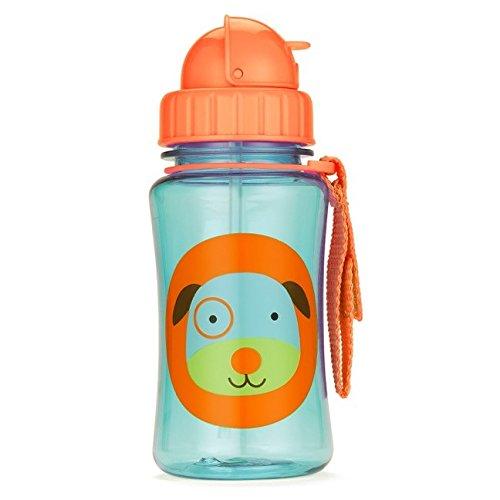 Skip Hop Zoo Straw Bottle, Holds 12 oz, Darby Dog
