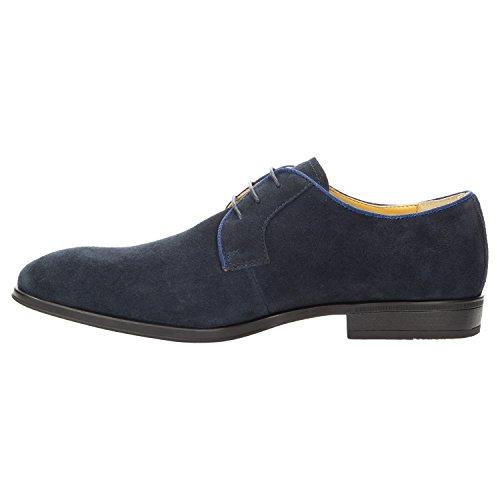 Zweigut Smuck #271 Herren Suede Derby Sneaker Business Schuh Komfort-König Ultraflexibel und Leicht Dunkelblau